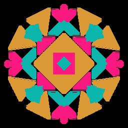 Composición de caleidoscopio redondo geométrico mexicano