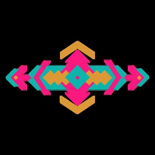 Composición geométrica horizontal mexicana