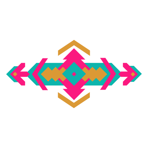 Mexican horizontal geometric composition