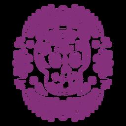 Máscara de calavera mexicana papel picado