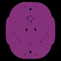 Mexican skull papel picado