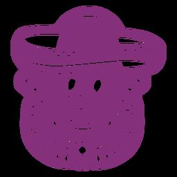 Cráneo mexicano sombrero papel picado