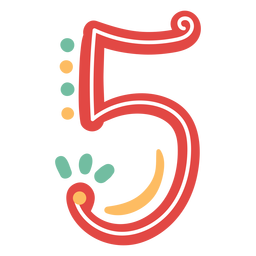 Letras de número cinco estilo mexicano