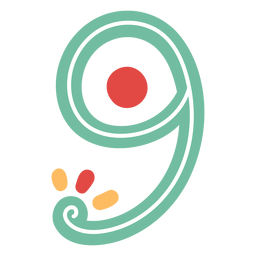 Mexican style number nine lettering