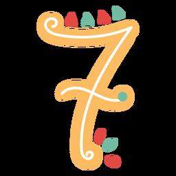 Letras de estilo mexicano número siete