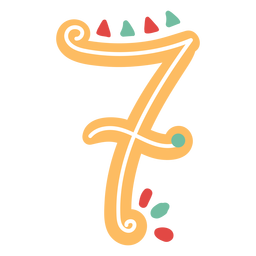 Mexican style number seven lettering