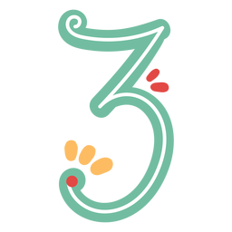 Mexican style number three lettering