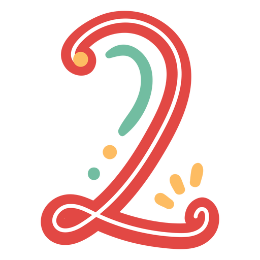 Mexican style number two lettering