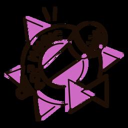 Mikrofon Pop-Musik-Symbol