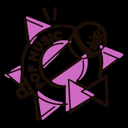 Microphone pop music symbol