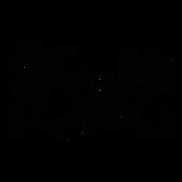 Macaco árvore tropical recortada em preto