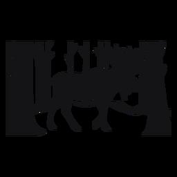 Bosque de alces cortado negro