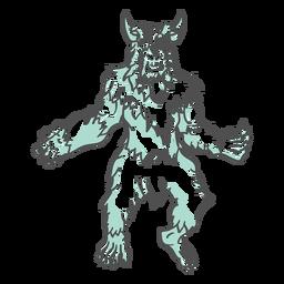 Mythischer Yeti, der duotone aufwirft
