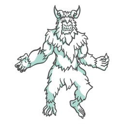 Yeti mítico posando duotônico