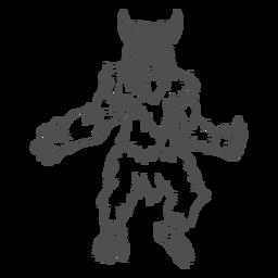 Mythischer Yeti, der Entwurf aufwirft