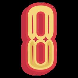 Número ocho letras