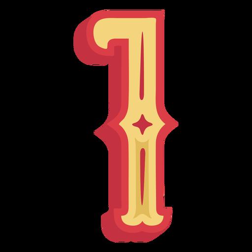 Número um lettering Transparent PNG