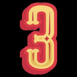 Letras número tres