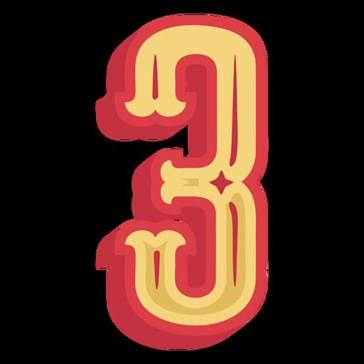 Número três letras Transparent PNG