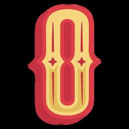 Number zero lettering