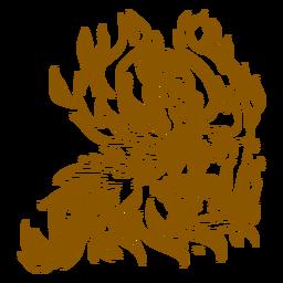 Phoenix extendiendo alas contorno marrón