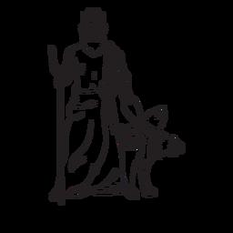 Pluton cerberus esquema dibujado a mano