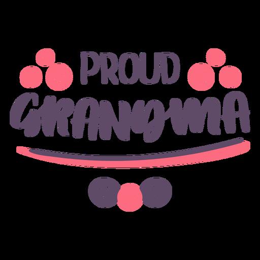 Proud grandma lettering