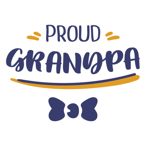 Proud grandpa lettering Transparent PNG