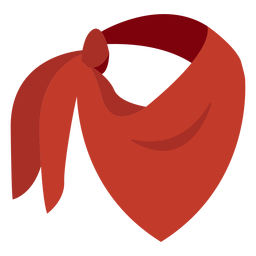 Ícone de cachecol bandana vermelho