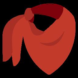 Icono de pañuelo pañuelo rojo