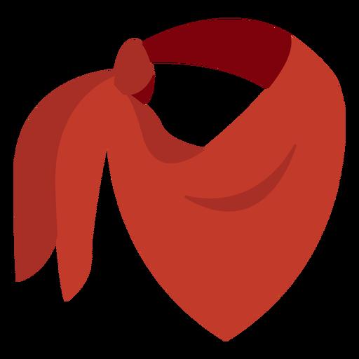Icono de bufanda pañuelo rojo