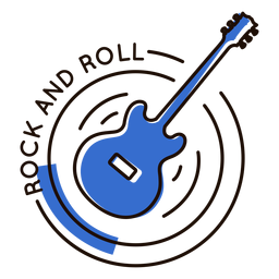 Rock roll guitar symbol