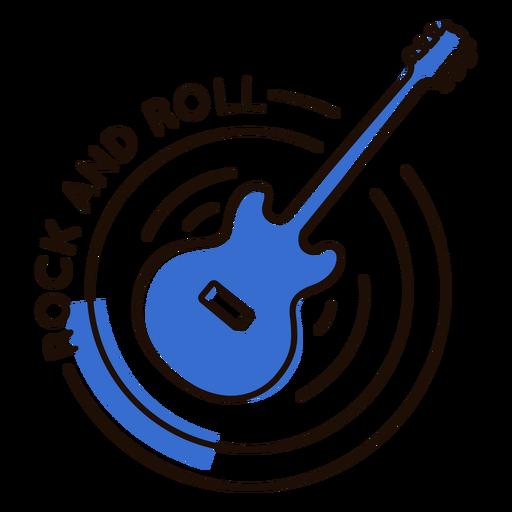 Rock roll guitar symbol Transparent PNG