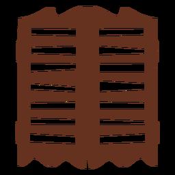 Icono de corte de puertas de salón
