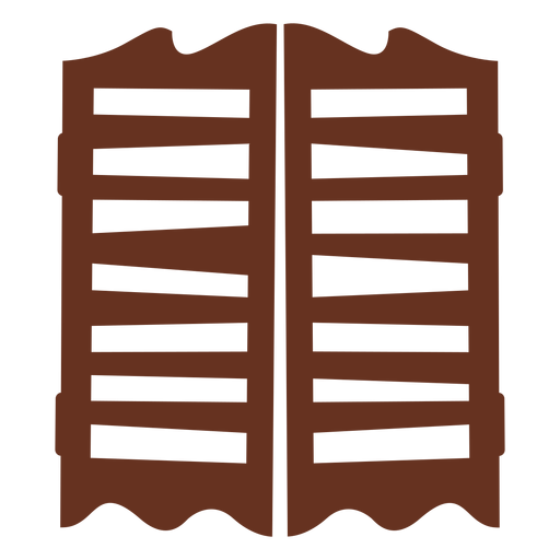 Saloon doors cut out icon