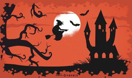 Halloween-Hexe-Hintergrund