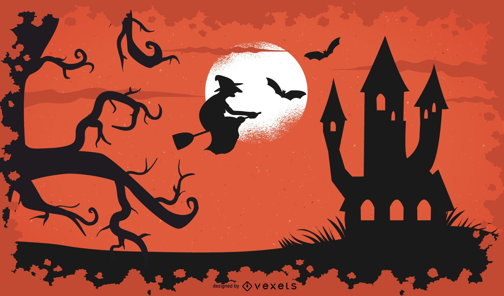 Halloween Bruxa Fundo