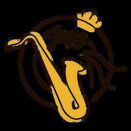 Símbolo de jazz saxofone
