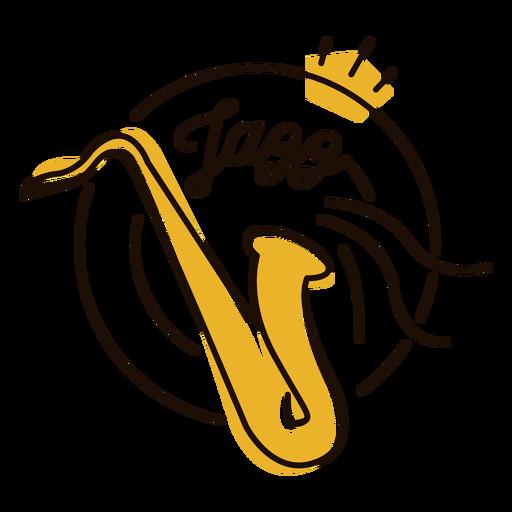 Saxophone jazz symbol Transparent PNG