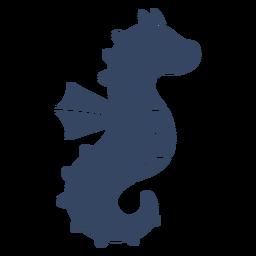 Hipocampo do cavalo marinho cortado preto