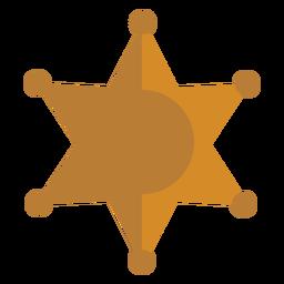 Icono de insignia de sheriff