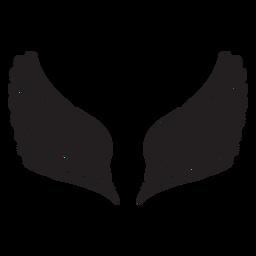 Asas de anjo simples cortadas em preto