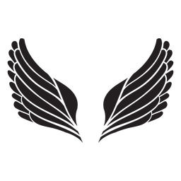 Simple angel wings cut out black