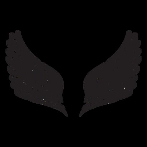 Asas de anjo simples cortadas em preto Transparent PNG
