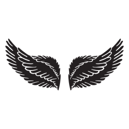 Alas de ángel suaves cortadas en negro