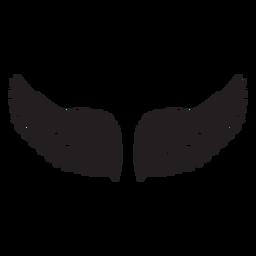 Asas de anjo macias cortadas em preto