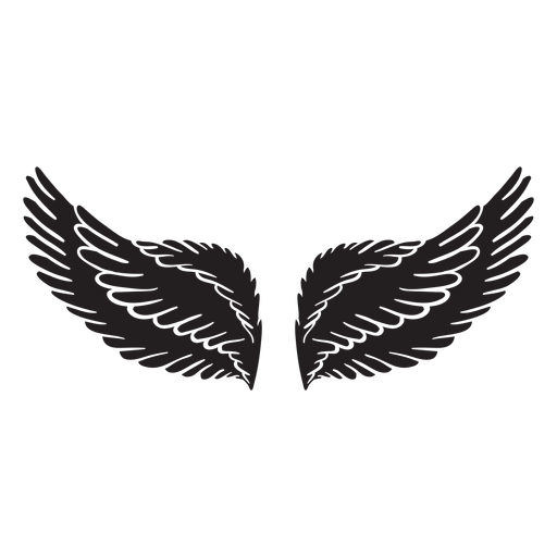 Soft angel wings cut out black