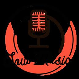 Retro- Mikrofonsymbol der Seelenmusik