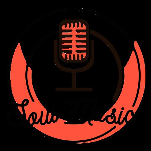 Símbolo de micrófono retro de música soul