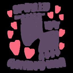 Mimado por las letras de la abuela